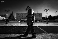 Athens (iosif.michael) Tags: sony a7 street bw people athens greekman greece travel syntagma square man