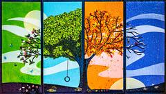 My Favorite Tree Art at Epic (giantmike) Tags: display epicsystemscorporation seasons art tree wall