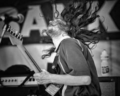 in the air tonight (gro57074@bigpond.net.au) Tags: feelingthemusic feel intheairtonight event newtownfestival 2018 november newtown hair man guitar music monotone monochrome mono blackwhite bw guyclift f28 70200mmf28 nikor d850 nikon