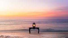 Spell of Time @Grumari Beach, Rio de Janeiro, Brazil (rafa bahiense) Tags: d610 d800 nikkor nikon rafabahiense fotografia photography vintagelantern lantern light beach sunrise grumari riodejaneiro brazil nature