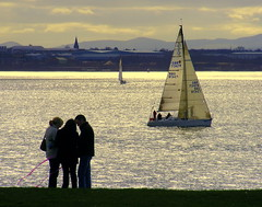 Otterspool silhouettes (* RICHARD M (Over 8 MILLION VIEWS)) Tags: otterspool rivermersey liverpool merseyside rivers sea yachts yachting sailing silhouettes scapes wirral northwales candid wales welshhills water marine nautical england greatbritain britain uk unitedkingdom britishisles islandnation goldenhour aigburth waterfront riverbank hills spire