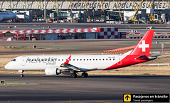Embraer 190 Helvetic Airways HB-JVO (Ana & Juan) Tags: airplane airplanes aircraft airport aviation aviones aviación embraer embraer190 helvetic airways taxiing madrid mad madridbarajas barajas lemd spotting spotters spotter planes canon closeup sunset