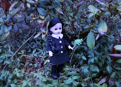 'It's so cute and green!' (pianocats16) Tags: wednesday addams doll ooak custom living dead dolls cute dino monster garden green