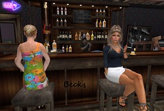 Dont think much of the service...ppfff (Becks (Rebecca)) Tags: becks smoking bar service waiting people drinks bartender seats alcohol secondlife sl avatar avi