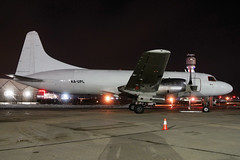 XA-UPL Air Tribe Convair 580 at KCLE (GeorgeM757) Tags: xaupl cv580 airtribe freighter cargo kcle clevelandhopkins georgem757 nightairplane convair turboprop aircraft aviation airplane airport airfreight