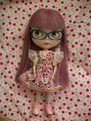 Amicon...... (simplychictiques) Tags: fwbblythedolls ooakcustomblythedolls blythe fwb faceupbydanny unknownbasedoll dncnllamadress simple cute stockglasses blythewearingglasses heatresistanthair shershereroot liccabody dollinhonorofkathy specialgirl friendswithblythecustoms blythephotography spokanewashington cutefabric naturallighting amicon