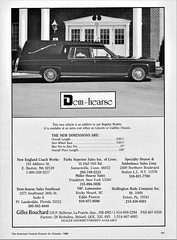 1989 Gilles Bouchard Dem-Hearse on Cadillac chassis (Canada) (aldenjewell) Tags: 1989 gilles bouchard demhearse cadillac chassis funeral coach ad canada