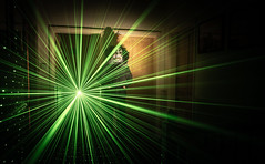 If Your Names Not Down You're Not Coming In (Rob Pitt) Tags: light painting laser pen green canon 1740 scary mask jigsaw saw sony a7rii