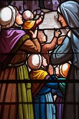 De la piété ... * (Titole) Tags: vitrail stainedglass women colorful friendlychallenges