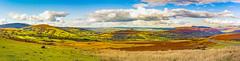 Brecon Beacons National Park - Panorama (JackPeasePhotography) Tags: brecon beacons national park mountains hills valley view wales autumn november panorma nikon d7200
