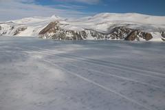 Eislandebahn aus der Luft