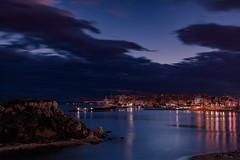 Dusk at Zea marina, Piraeus (Kostas Karageorgiou) Tags: pool ef24105mm f4l is ii usm canon eos 6d mark iv greece athens marina pasalimani pireus harbour saronic bay sunset dusk clouds yachts mega lights beach zea reflection