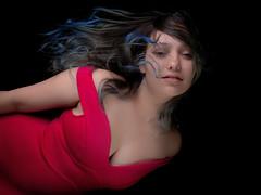 Flying (MomoFotografi) Tags: bluehair girl woman beauty portrait