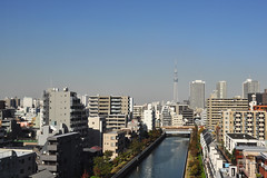 Tokyo and Tokyo Skytree (DameBoudicca) Tags: tokyo tokio 東京 japan nippon nihon 日本 japón japon giappone city cityview tokyoskytree 東京スカイツリー 平久川 heikyuriver