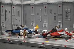 Interceptor Starfighter Hangar (XoverBrick) Tags: lego legofanwelt legofanwelt2018 afol legostarwars starwars