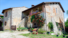 Typical Tuscan Farmhouse (kate willmer) Tags: house flowers farm building architecture tuscany italy
