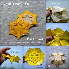 Tutorial New Year's Eve - part 7 (talina_78) Tags: origami star hexagon tutorial
