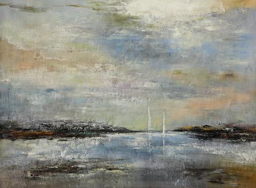 Original Seaside Landscape Painting