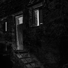 6441i  Derelict (foxxyg2) Tags: derelict architecture buildings chora naxos cyclades greece greekislands islandhopping islandlife dereliction light shadows mono monochrome bw blackwhite niksoftware silverefex dxo