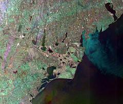 Danube Delta (karadogansabri) Tags: esa europeanspaceagency european space agency envisat satellite earthfromspace asar danube danubedelta romania blacksea