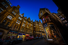 Old Town, Edinburgh, Scotland, UK (ABKamleh) Tags: bluehour night edinburgh scotland uk gb ultrawideangle nikon d7200 sigma816mm