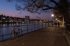 Basel am Rhein (Thomas Wyser) Tags: basel rhein rhine river flüsse wasser langzeitbelichtung longtimeexposure fujifilm fuji fujixh1 abendlichter herbst autumn fall nightphotography nachtfotografie switzerland schweiz travelphotography streetphotography fotowyserch untererrheinweg