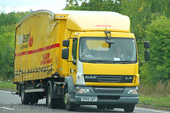 DAF LF DHL Tradeteam FP13 JVT (SR Photos Torksey) Tags: transport truck haulage hgv lorry lgv logistics road commercial vehicle freight traffic