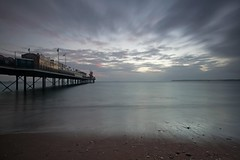 You cant beat a bit of drama in the morning! (Hoovering_crompton) Tags: paigntonbeach pier beach moody clouds devon sky nikond3300 travis3leggedthing
