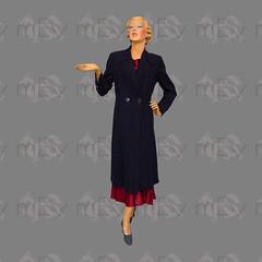 1930s 1940s Tailor Made Navy Blue Coat (Rickenbackerglory.) Tags: 1930s 1940s vintage siegel mannequin navy blue coat