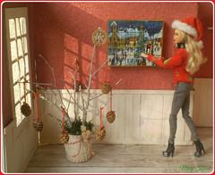 1.advent day - advent calendar with dolls 2018 (Mary (Mária)) Tags: barbie christmas calendar advent christmastree handmade diorama santa miniatures indoor doll dollhouse fashion fashionistas marykorcek