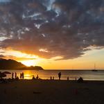 Princeville beach sunset Kauai Hawaii pano thumbnail