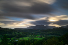Cloudy sunset (Rico the noob) Tags: 2018 d850 lakedistrict 2470mm sunset nature water mountains outdoor hills 2470mmf28 clouds trees outlook published horizon tree travel forest house dof sky lake uk longexposure landscape mountain