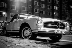 (To Whom This May Concern) Tags: mercedessl mercedespagoda drivetastefully mercedesbenz car kodakfilm kodaktrix streetphotography olympus olympusxa filmphotography analogue 35mmfilm nightphotography blackandwhite blackandwhitephotography