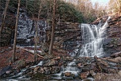 Chameleon Falls - Carbon County, Pennsylvania (The Dark Side Observatory) Tags: tomwildoner glenonoko jimthorpe pennsylvania carboncounty chameleonfalls water waterfalls waterfall ice snow winter frozen freezing rocks nature environment canon canon6d hdr tripod