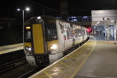 Abellio Greater Anglia . 379026 . Bishop's Stortford Station , Hertfordshire . Sunday 06th-January-2019 . (AndrewHA's) Tags: hertfordshire bishopsstortford railway station abellio greater anglia class 379 electric multiple unit 379026 2h44 semifast passenger train cambridge bombardier derby electrostar