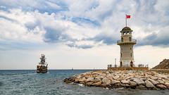 Past the lighthouse ... \ Мимо маяка... (Nitohap) Tags: маяк корабль море плавание небо облака пейзаж волны берег lighthouse ship sea swimming sky clouds landscape waves d850 tamronsp1530