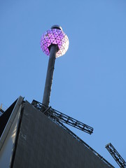 Lighted Purple Waterford Crystal Ball on Pole 4759 (Brechtbug) Tags: number one times square building with lighted purple waterford crystal ball pole 2018 new york city looking south nyc broadway architecture holiday buildings signs year years ad electronic billboard 11122018 november