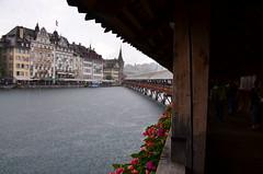 Kapellbrücke (robra shotography []O]) Tags: bridge kapellbrücke water rain pioggia ponte holiday luzern lucerna