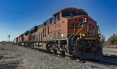 North Bound Mixed Freight (Kool Cats Photography over 10 Million Views) Tags: bnsf railroad locomotives track landscape locomotive outdoor oklahoma freight train sky blue