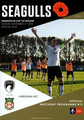 2018/19 Weston-super-Mare v Wrexham (Wrexham Programmes) Tags: 201819 wrexham facup weston super mare football programme