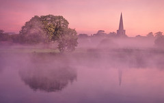 Dawn Beauty (Captain Nikon) Tags: sawley derbyshire mist misty dawn longeaton england allsaintschurch reflections