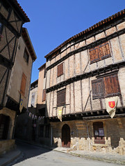 Alet-les-Bains (Niall Corbet) Tags: france occitanie languedoc roussillon aude aletlesbains square place medieval halftimbered house