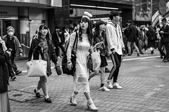 Hey Buddy, She's MY Guardian Angel! Get Your Own! (burnt dirt) Tags: asian japan tokyo shibuya station streetphotography documentary candid portrait fujifilm xt1 bw blackandwhite laugh smile cute sexy latina young girl woman japanese korean thai dress skirt shorts jeans jacket leather pants boots heels stilettos bra stockings tights yogapants leggings couple lovers friends longhair shorthair ponytail cellphone glasses sunglasses blonde brunette redhead tattoo model train bus busstation metro city town downtown sidewalk pretty beautiful selfie fashion pregnant sweater people person costume cosplay boobs halloween shibuyahalloween