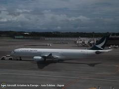 Cathay Pacific  B-LAO Tokyo Narita, Japan (Aircraft Aviation in Europe) Tags: cathay pacific airbus a330300 tokyo narita airport japan