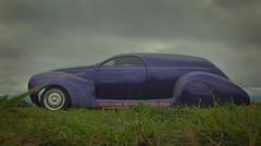 1939 Lincoln Zephyr Delivery (Lyndon (NZ)) Tags: nz car classic transport masterton motorplex newzealand 2018 purple