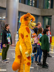 DSC01097 (Kory / Leo Nardo) Tags: furry fursuit suiting dance party dj con convention further confusion fc san jose marriott center pupleo leo kory fur costume costuming cosplay animals animal 2019 conventioncenter fc2019 fc19
