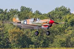 P-40 Gear Down (John Kocijanski) Tags: airplane airshow airport aircraft curtissp40warhawk warbird canon70300mmllens vehicle canon7d