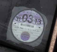 E438 PNG (5) (Nivek.Old.Gold) Tags: 1987 ford escort 16 ghia 5door billkilbourn hempnall eama tax disc march2013