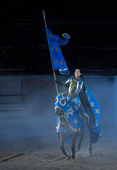The Blue Knight (Rainfire Photography) Tags: medievaltimes show knight toronto exhibitionplace nikon horse