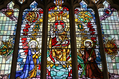 Parousia (Lawrence OP) Tags: lambeth stmarys stainedglass jesuschrist parousia glory stjohnthebaptist blessedvirginmary evangelists angels heaven throne god eschatology
